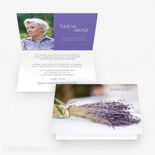 Trauerkarte Lavendel 15 x 10 cm Vertikalklappkarte