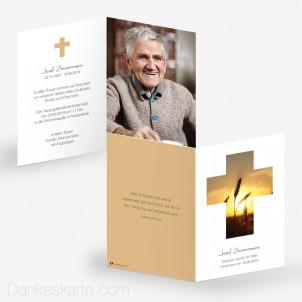 Trauerkarte Lichtdurchflutet 10 x 15 cm