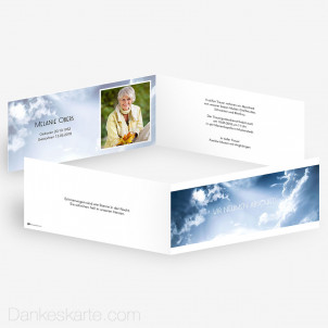 Trauerkarte Losgelöst 21 x 10 cm