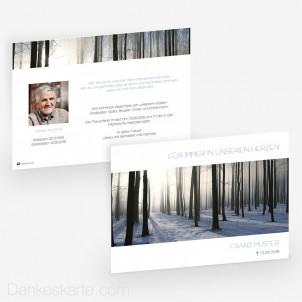 Trauerkarte Mystisches Licht 21 x 15 cm