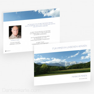 Trauerkarte Weitblick 21 x 15 cm