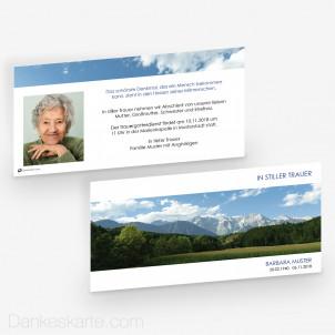 Trauerkarte Weitblick 21 x 10 cm