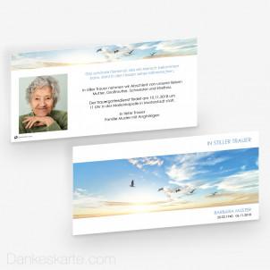 Trauerkarte Wolkenleicht 21 x 10 cm