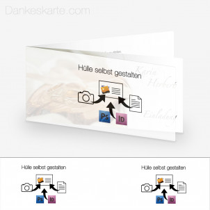 Transparente Hülle Eigenes Design (für 21x10cm Karten)