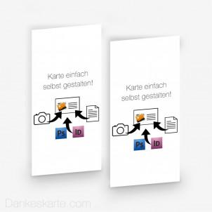 Doppelseitig Eigenes Design 10 x 21 cm