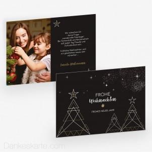 Weihnachtskarte Baumgeometrie 21 x 15 cm