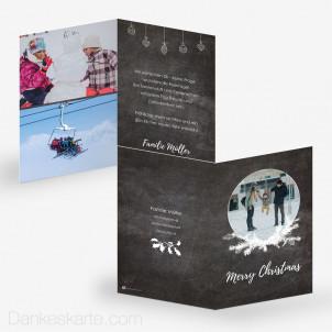 Weihnachtskarte Black Pearl 10 x 15 cm