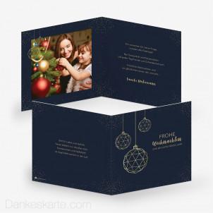 Weihnachtskarte Christbaumkugel 14.5 x 14.5 cm