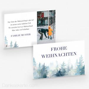 Weihnachtskarte Der Wald ruft 15 x 10 cm