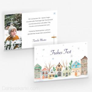 Weihnachtskarte Fern vom Trubel 15 x 10 cm