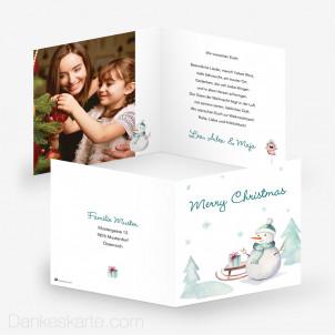 Weihnachtskarte Frostig 14.5 x 14.5 cm