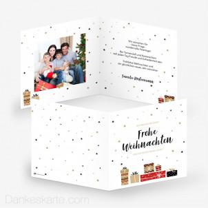 Weihnachtskarte Geschenke 14.5 x 14.5 cm