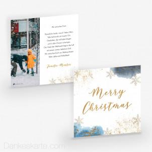 Weihnachtskarte Glanzvolles Fest 14.5 x 14.5 cm