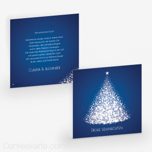 Weihnachtskarte Glitzerbaum 14.5 x 14.5 cm