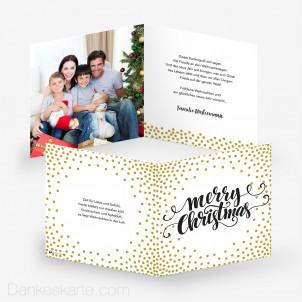 Weihnachtskarte Gold Dots 14.5 x 14.5 cm
