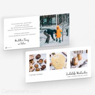 Weihnachtskarte Klares Design 21 x 10 cm