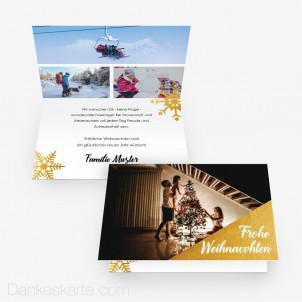 Weihnachtskarte Let it glow 15 x 10 cm Vertikalklappkarte