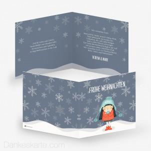 Weihnachtskarte Let it snow 14.5 x 14.5 cm