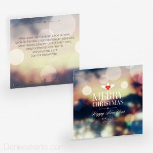 Weihnachtskarte Lights 14.5 x 14.5 cm