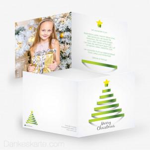 Weihnachtskarte Linetree Family 14.5 x 14.5 cm