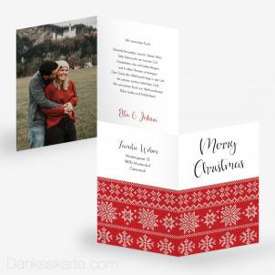 Weihnachtskarte Norwegermuster 10 x 15 cm