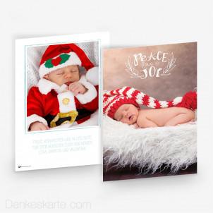 Weihnachtskarte Peace Love Joy 15 x 21 cm
