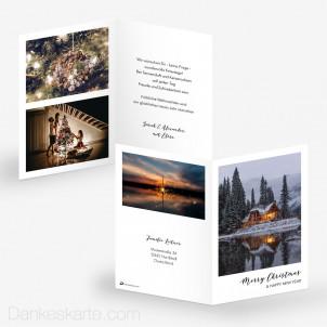 Weihnachtskarte Polaroid Stil 10 x 15 cm