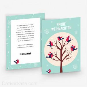 Weihnachtskarte Rotkehlchen 15 x 21 cm