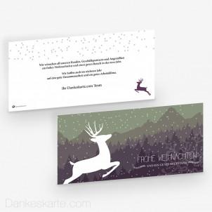 Weihnachtskarte Schneegestöber 21 x 10 cm