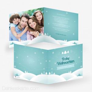 Weihnachtskarte Schneelandschaft 14.5 x 14.5 cm