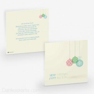 Weihnachtskarte Simple Baubles 14.5 x 14.5 cm