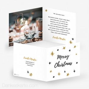 Weihnachtskarte Sternenzelt 14.5 x 14.5 cm