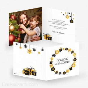 Weihnachtskarte Symbole 14.5 x 14.5 cm