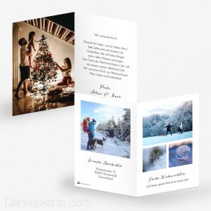 Weihnachtskarte Understatement 10 x 15 cm