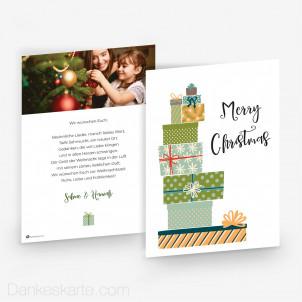 Weihnachtskarte Verpackungskunst 15 x 21 cm