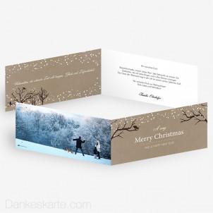 Weihnachtskarte Verschneit 21 x 10 cm