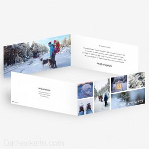 Weihnachtskarte Vielfalt 21 x 10 cm