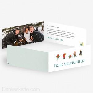 Weihnachtskarte Vorweihnachtszeit 21 x 10 cm