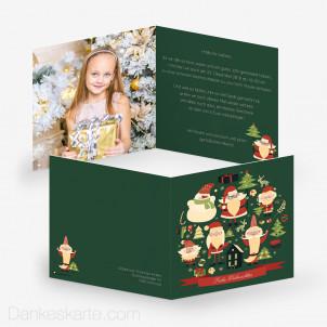 Weihnachtskarte Weihnachtsmänner 14.5 x 14.5 cm