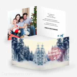 Weihnachtskarte Winter Wonderland 14.5 x 14.5 cm