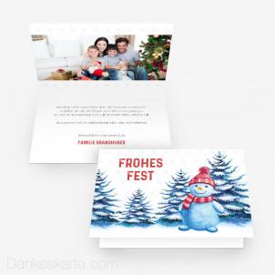 Weihnachtskarte Wintergarten 15 x 10 cm Vertikalklappkarte