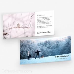 Weihnachtskarte Zeitlos Schön 21 x 10 cm