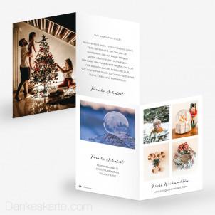 Weihnachtskarte Zeitloser Klassiker 10 x 15 cm
