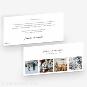 Weihnachtskarte Zeitloser Klassiker 21 x 10 cm