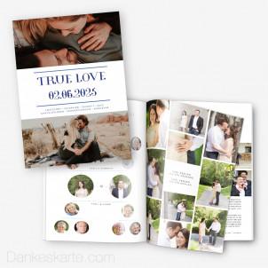 Hochzeitszeitung Blaupause