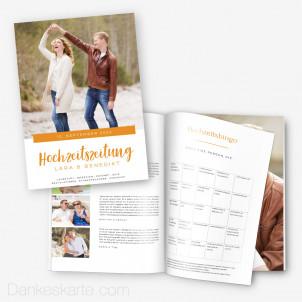Hochzeitszeitung Klares Design