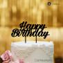 Cake Topper Happy Birthday 2 - Schwarz - XL