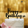 Cake Topper Happy Birthday - Schwarz - XL