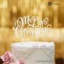 Cake Topper Merry Christmas 2 - Weiss - XL