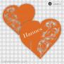 Tischkarte Herz Lasercut Glasanhänger 9 x 8.5 cm
